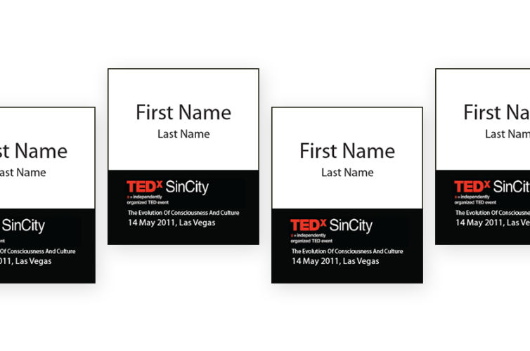 TedX Sin City Event Badges