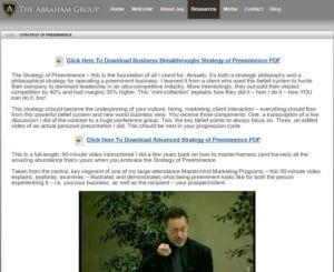 Jay Abraham Strategy of Preeminence Additional Bonuses