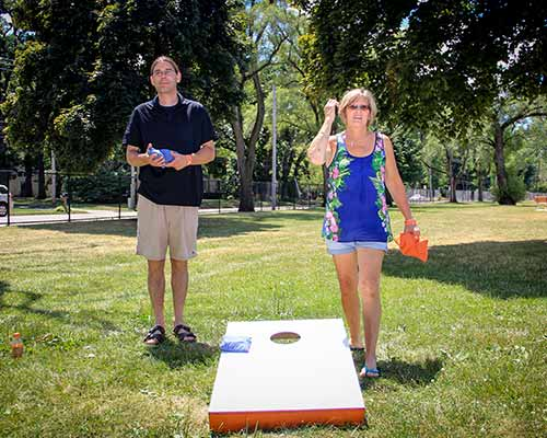Playing Bags at the 2016 Annual Picnic by Corporate Disk Company