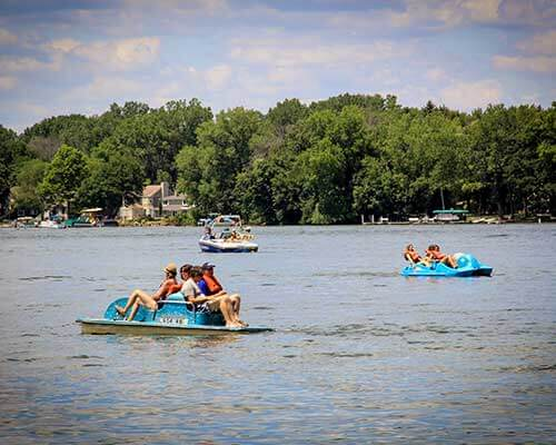 Paddle Boats at the 2016 Annual Picnic by Corporate Disk Company