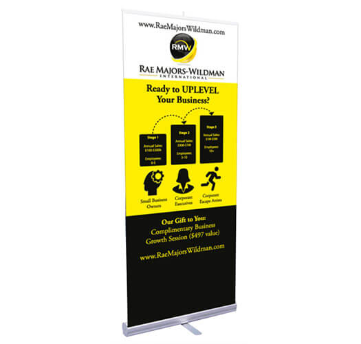 Retractable Banner Printing by Corporate Disk Company