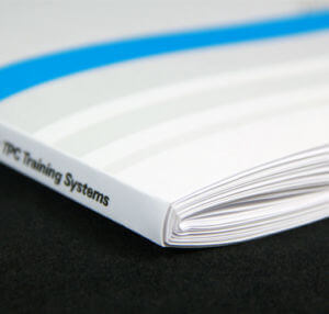 Specialty Square Saddle-Stitch Binding by Corporate Disk Company
