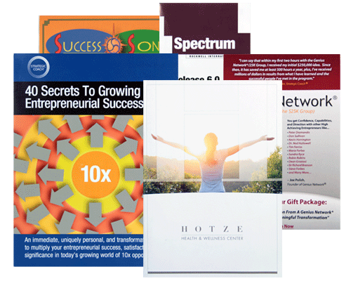 Custom Brochure Printing Services by Corporate Disk Company