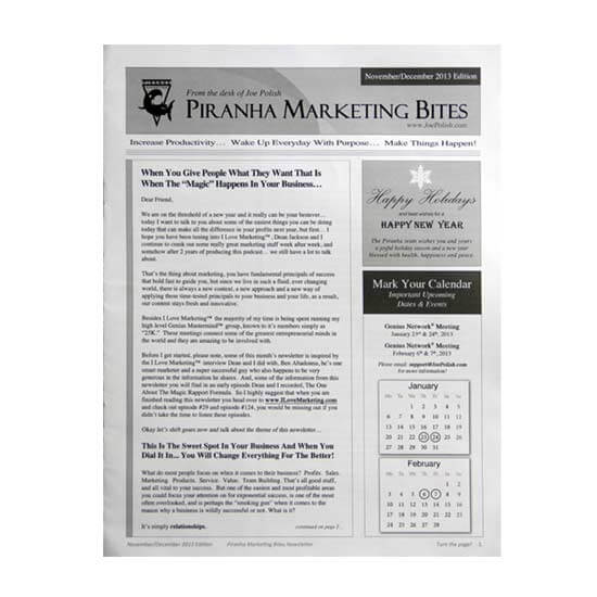 Paperback Newsletter Printing Example #2 by Corporate Disk Company