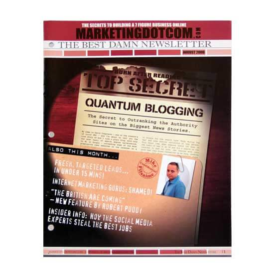 Saddle Stitch Newsletter Printing Example #1 by Corporate Disk Company