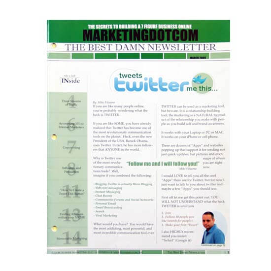 Saddle Stitch Newsletter Printing Example #2 by Corporate Disk Company