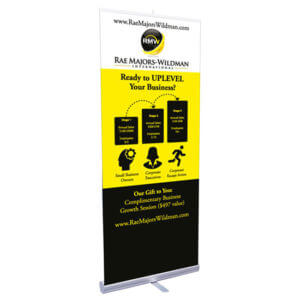 Retractable Banner Printing Example #1 by Corporate Disk Company