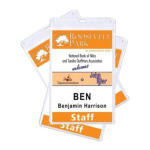 Variable Data Badge & Nametag Printing Example #5 by Corporate Disk Company