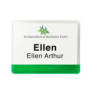 Vinyl Name-tag Holder Example #2 by Corporate Disk Company