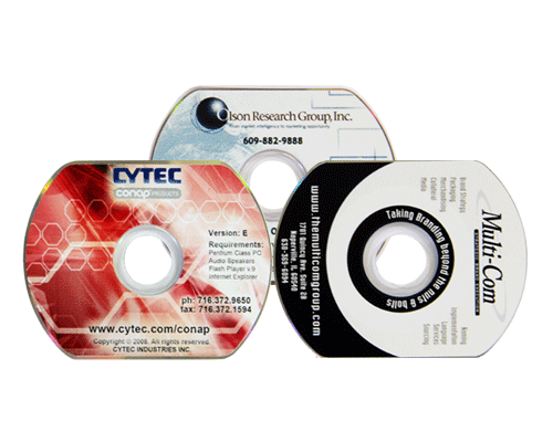 Business Card DVD Duplication Services by Corporate Disk Company