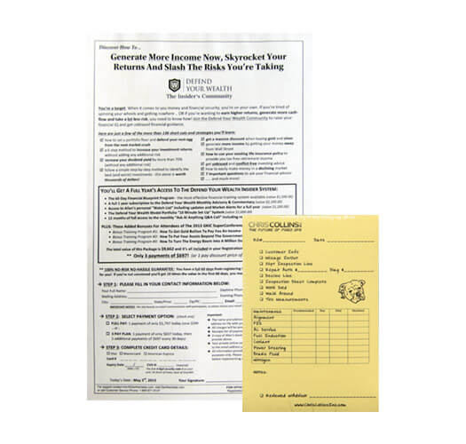 Order Form Printing Services by Corporate Disk Company
