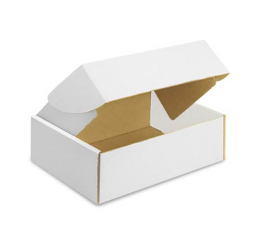 Corrugated White Box Packaging Example #1 by Corporate Disk Company