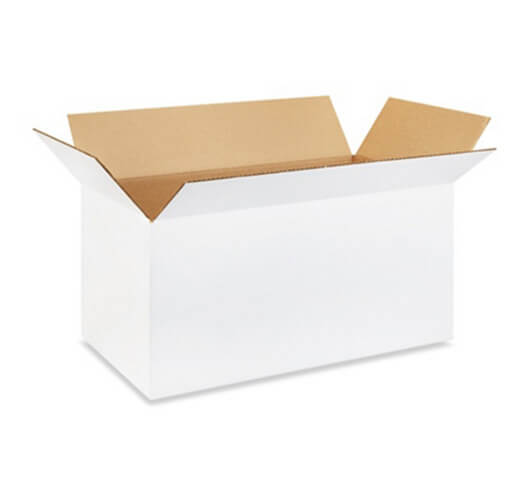 Corrugated White Box Packaging Example #3 by Corporate Disk Company